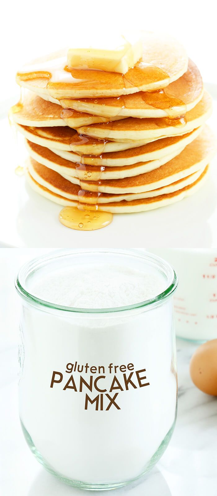 This easy mix for gluten free pancakes is perfect for everything from pancakes and muffins to breakfast bakes. Ditch that boxed mix and D.I.Y. better!