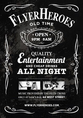 Free Whiskey Bar Flyer Template - http://freepsdflyer.com/free-whiskey-bar-flyer-template/ Free Whiskey Bar Flyer Template. It goes without saying (or at least I hope) that this flyer design is based on good ol' tasty Jack Daniels; with coke anyone?   #Bar, #Night, #Party, #Pub, #Rock, #RockParty, #Summer, #Whiskey