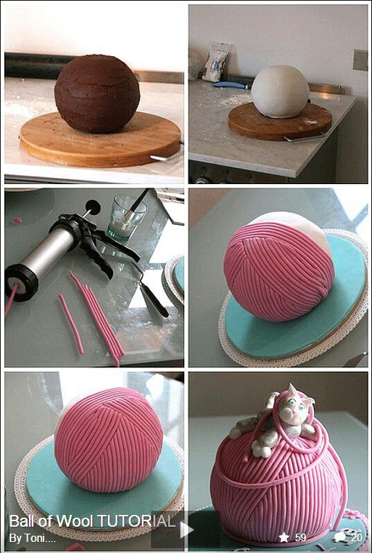 Wollknäuel-Kuchen