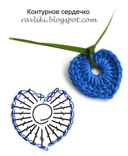 Simple Crochet Heart Chart