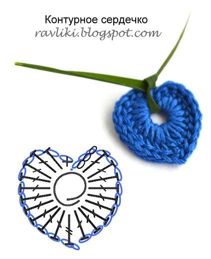Handmade Ravliki: Just a tiny hearts | Master classes for needlework -- nice simple  love (Robin)