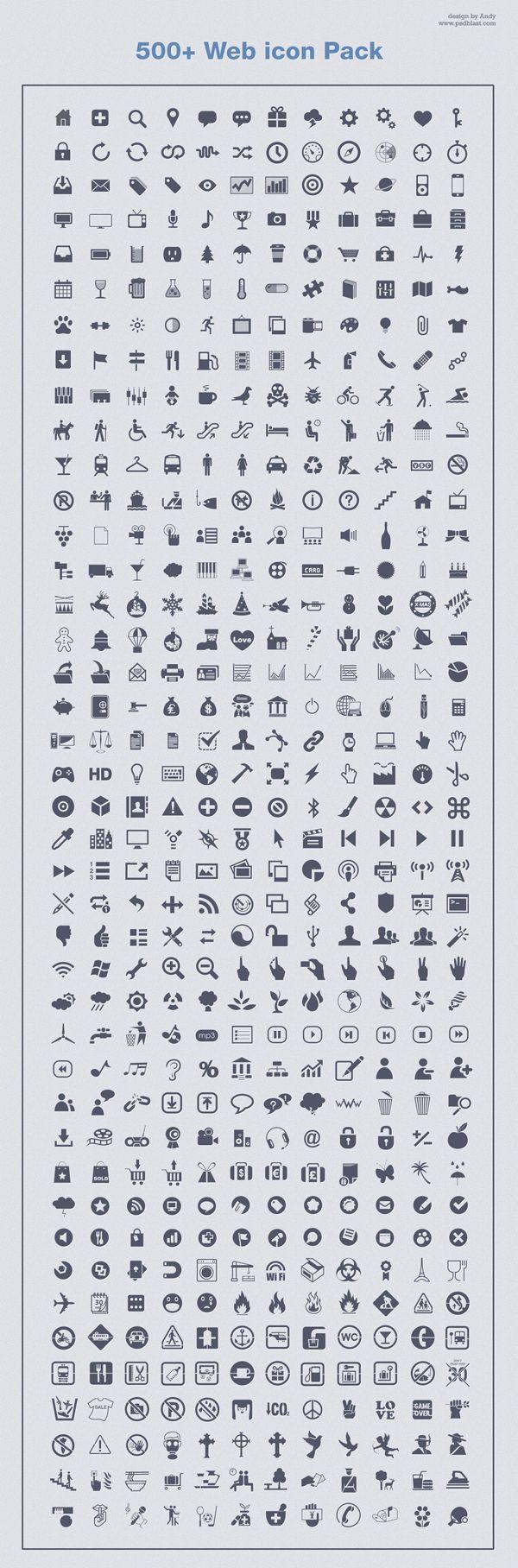 500+ Icone monocromatiche PSD | FREE
