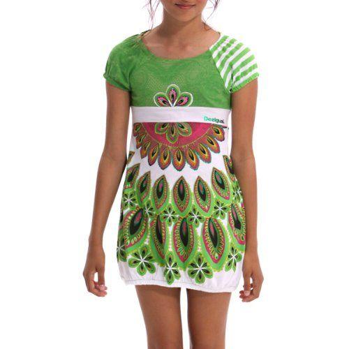 vestito Desigual Aranfa Girl abbigliamento tempo libero junior desigual verde-bianco-rosa -