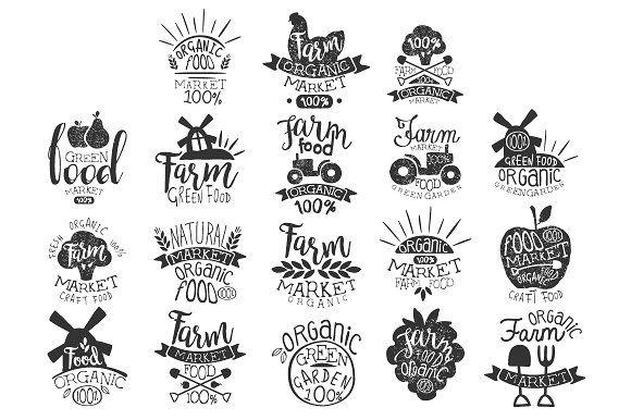 Organic Market Vintage Stamp by TopVectors on @creativemarket