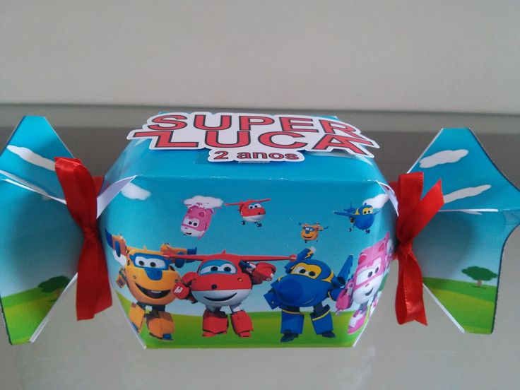 Caixa Bala para guloseimas Super Wings.  Essa arte pode ser aplicada em qualquer outra caixa.