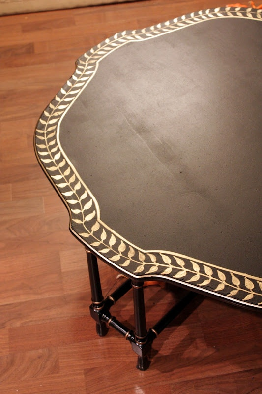 Handpainted Coffee Table with Gold Leaf Pen -- sweet!!!