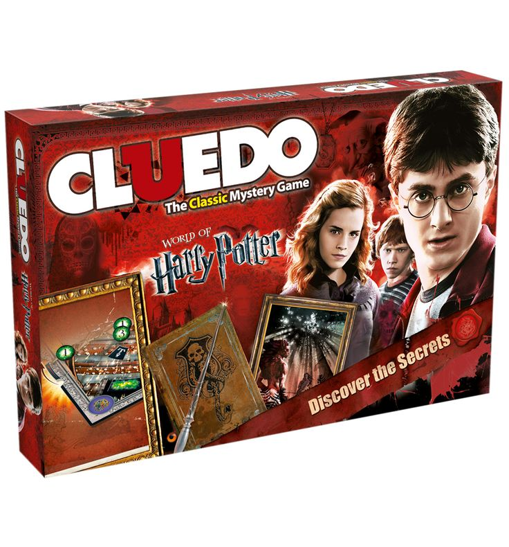 HARRY Potter Cluedo Game Set A friend has vanished. Play as either Harry, Ron, Hermione, Ginny, Luna for Neville, you need to discover who did it, what spell or item they used and where the student was attacked. Could it be Fenir http://www.MightGet.com/may-2017-1/harry-potter-cluedo-game-set.asp