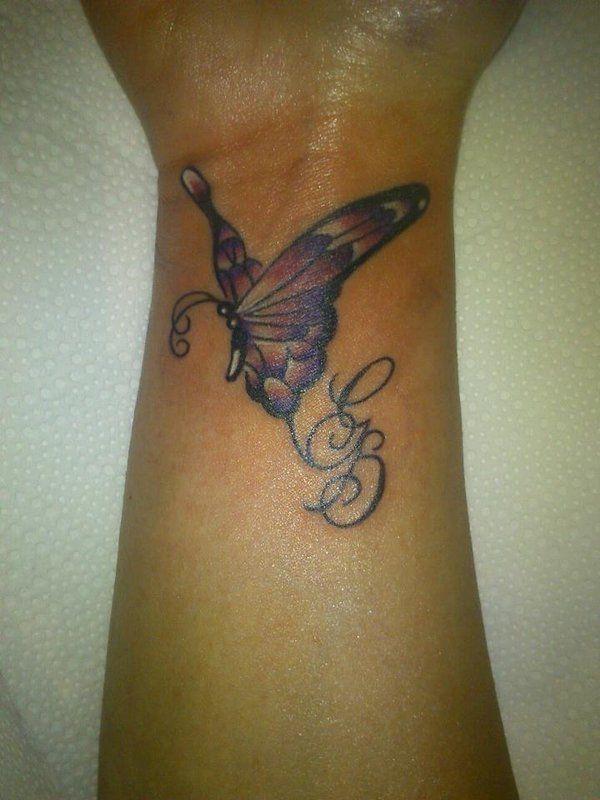Wrist butterfly tattoo designs  http://atattoodesignsforwomen.com/wrist-butterfly-tattoo-designs/