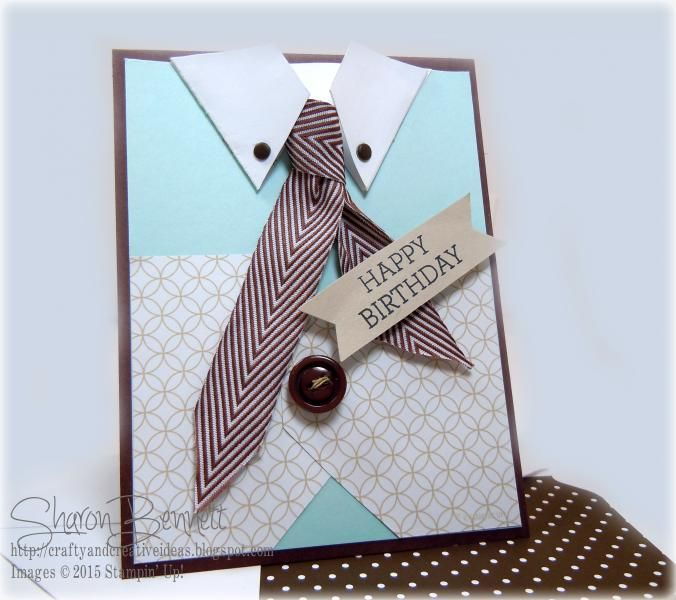 Masculine Tie & Vest Birthday Card - NEW Video!