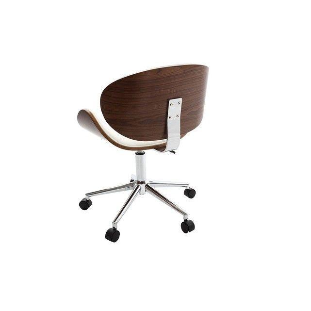 Un Look Atypique Et Tres Design Pour Cette Chaise De Bureau Design Noir Et Bois Walnut Qui Allie Prati Bureau Design Bois Chaise De Bureau Design Bureau Design