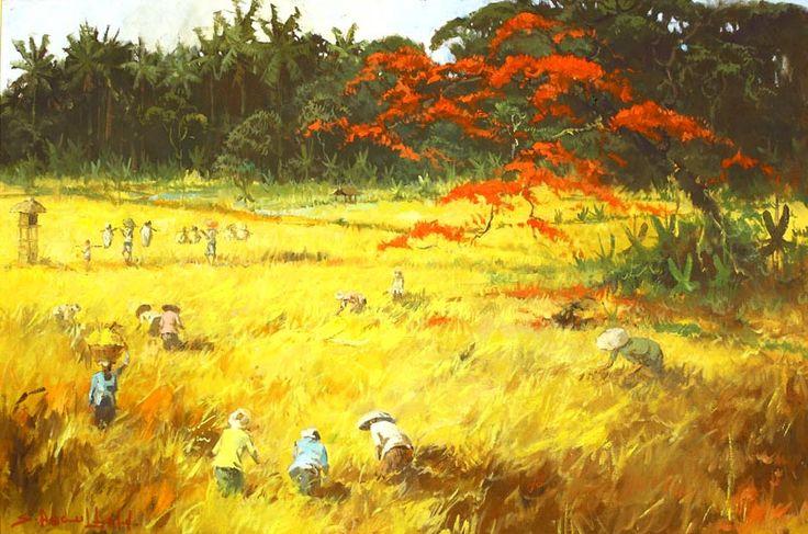Sudjono Abdullah - Panen (oogst)