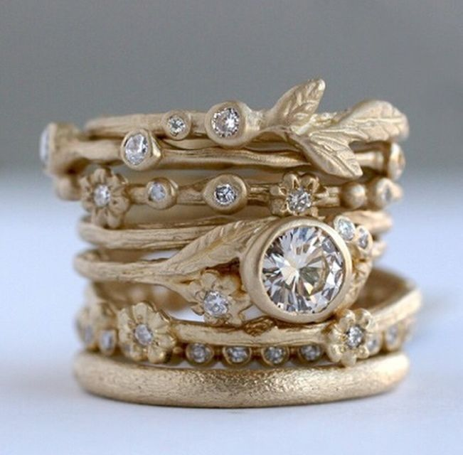 Sofia Kaman fine Jewels. Stackable Engagement Wedding Rings 2