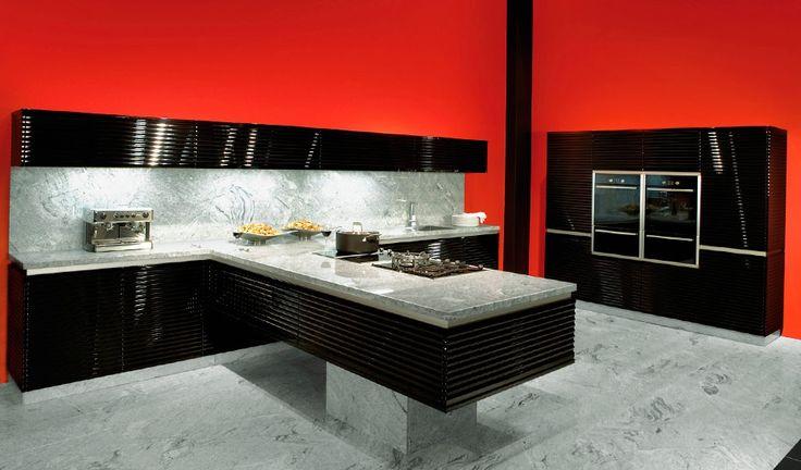 дизайн кухни в стиле хайтек