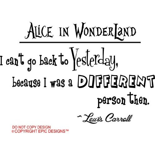 Alice in wonderland a different approach