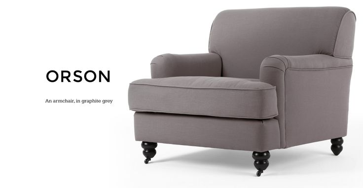 Orson Armchair in graphite grey | made.com
