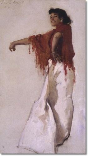 John Singer Sargent - Spanish Gypsy Dancer 1879