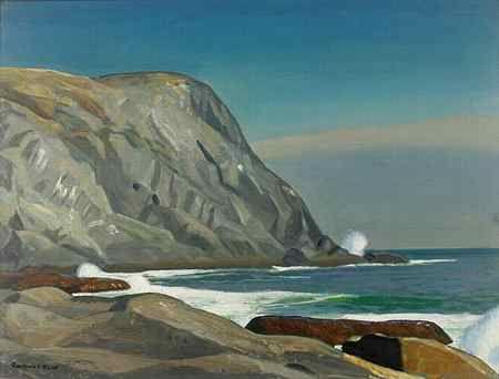 Rockwell Kent painting of Monhegan Island, Maine