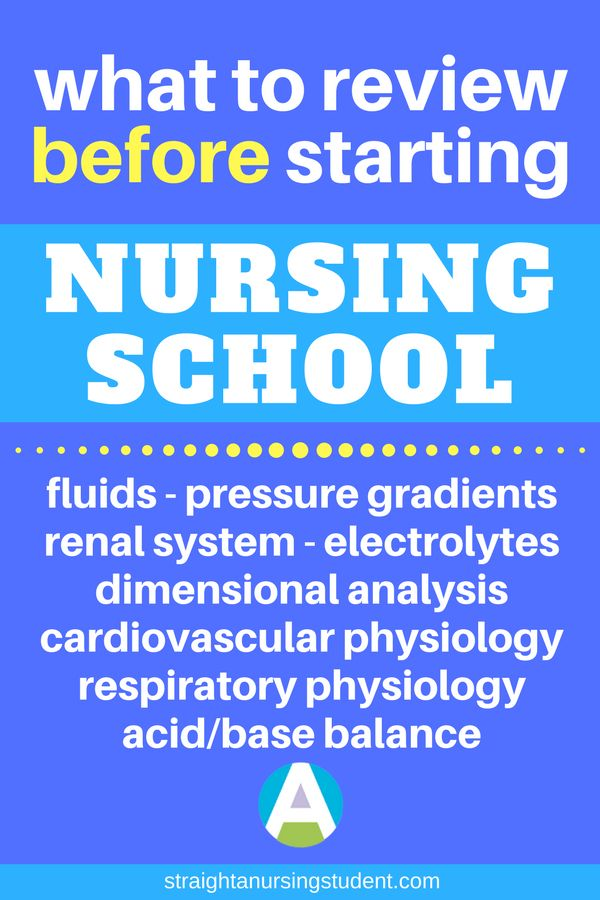 A great list of what to review before starting nursing school...set yourself up for success!