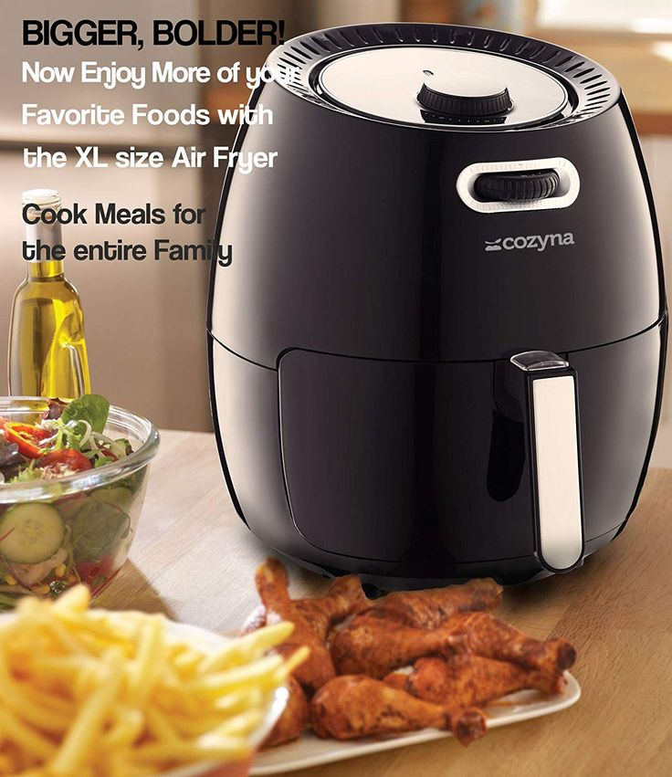 Air fryer xl by cozyna 58qt with airfryer cookbook