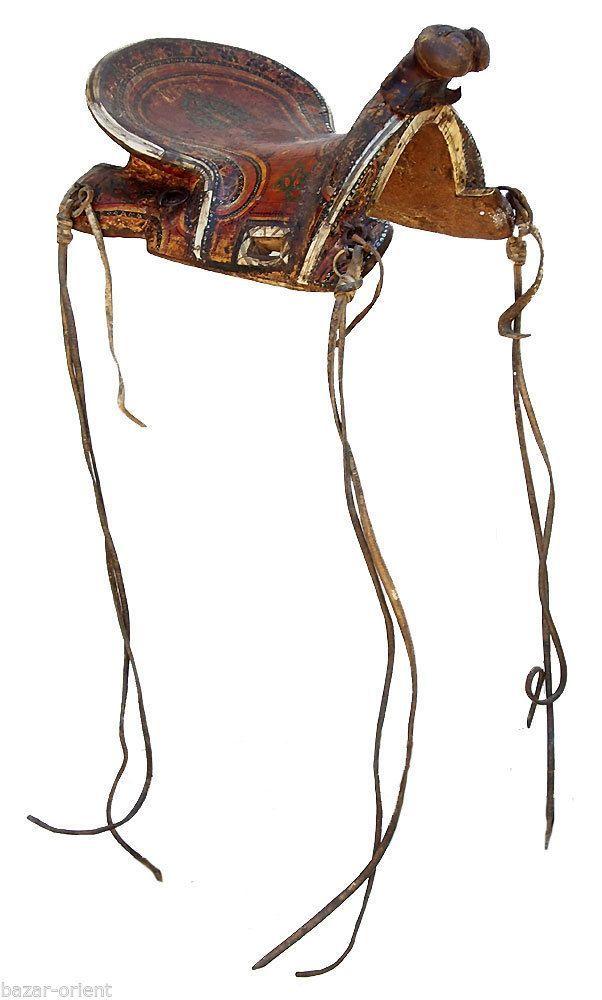 Rare Antique islamic Turkoman Painted Wooden horse Saddle orient pferde Sattel B horse saddles