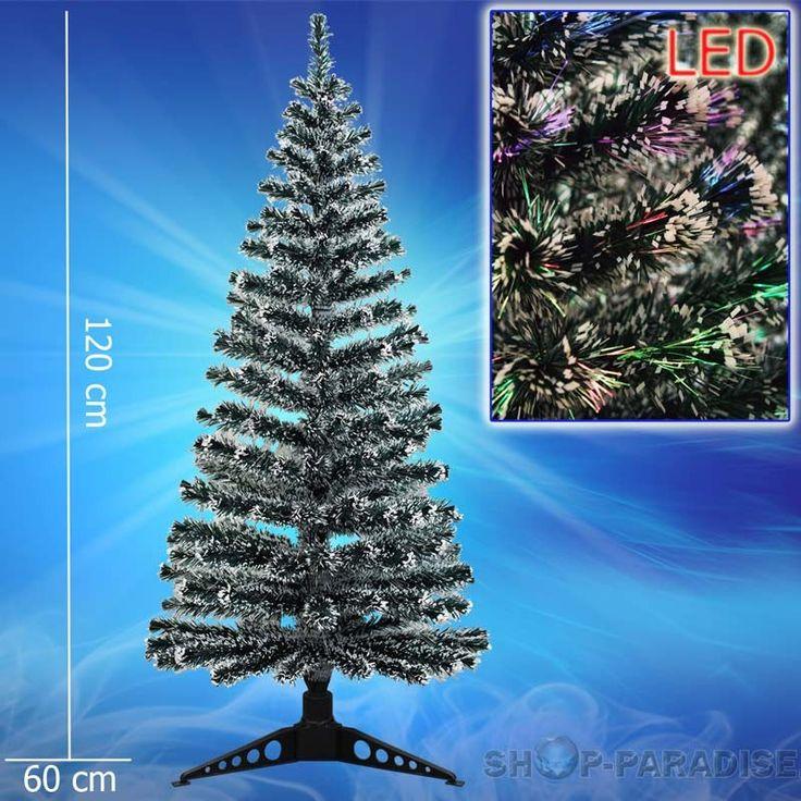 Trend Weihnachtsbaum mit LED Glasfaser Farbwechsler cm K nstlicher LED Weihnachtsbaum Tannenbaum Edeltanne Luxusausf hrung online g nstig kaufen inkl