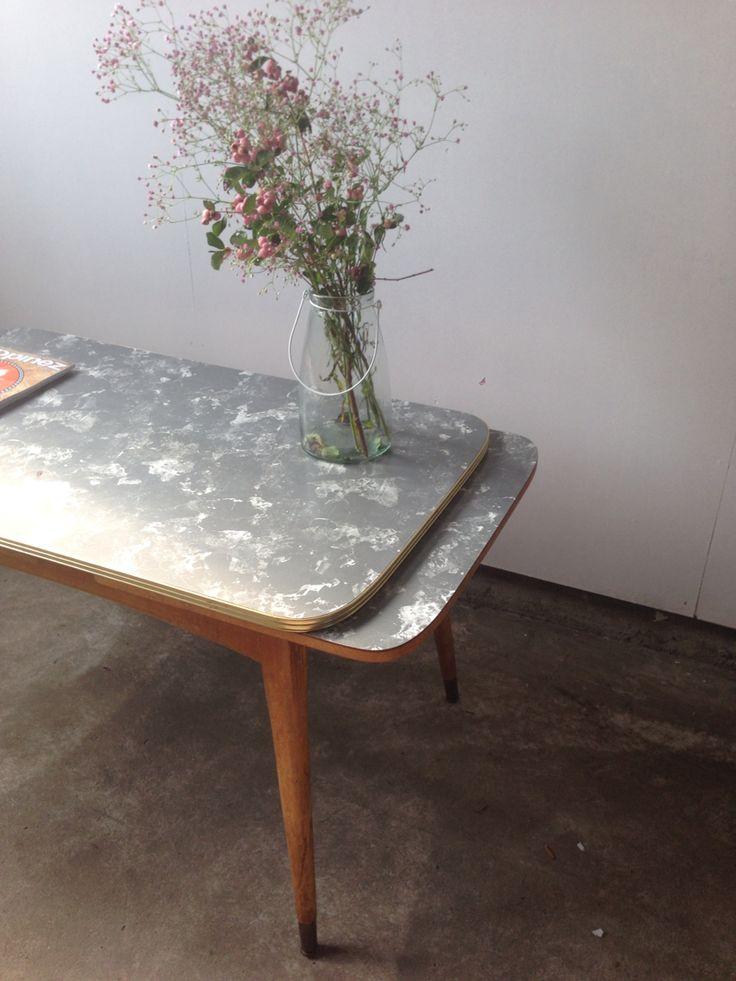 Vintage retro tafel uitklapbaar