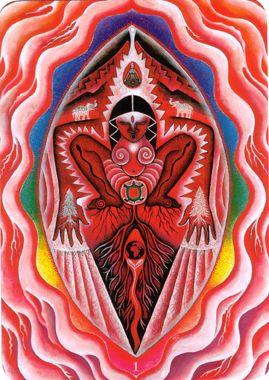 Premier Chakra (la racine) - Tarot triple déesse par Isha Lerner & Mara Friedman