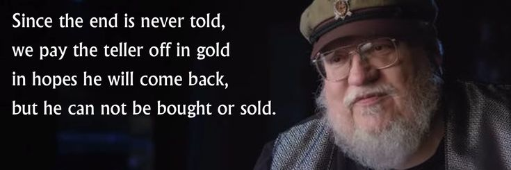 George R. R. Martin - Terrapin Station mashup.  Don't rush the man! Winds of Winter (ASOIAF, Game of Thrones)