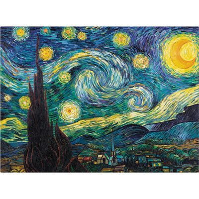 Charlton Home 'Starry Night' Canvas Print & Reviews | Wayfair
