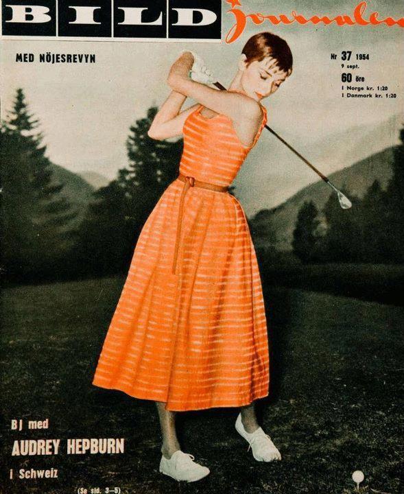 Audrey Hepburn on the cover of BILD Journalen, Sweden, September 9, 1954 issue.  ICG