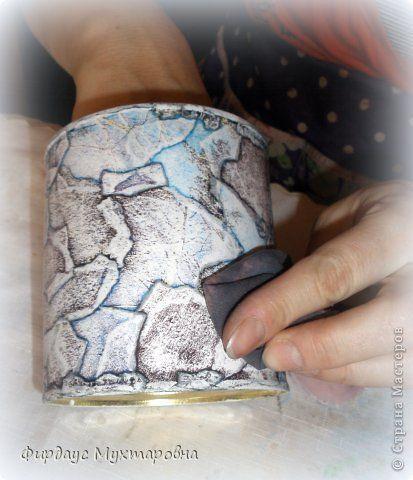 Декор предметов Мастер-класс Декупаж Каменные баночки Имитация Банки стеклянные…
