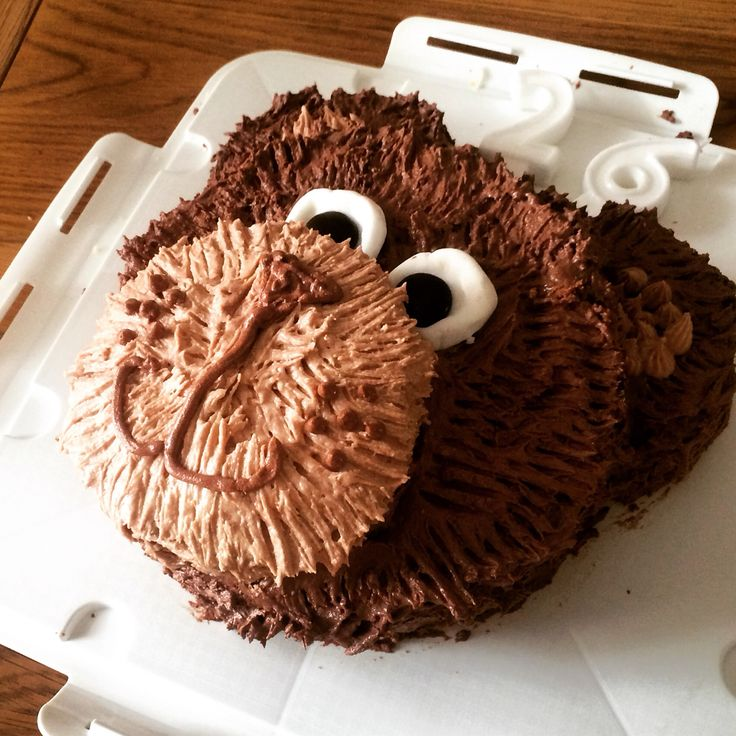 Bear cake - a Victoria sponge with buttercream icing