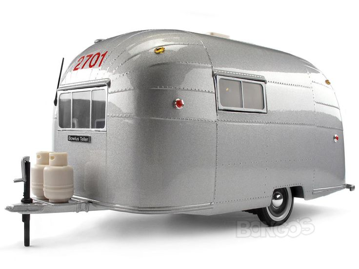 """Home :: Other Diecast :: Diecast Accessories :: """"Aero"""" Camper Trailer 1:18 Scale - Motorcity Classics Diecast Model"""