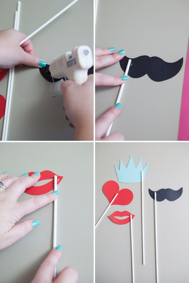 DIY - How to make your own photo booth stick props!