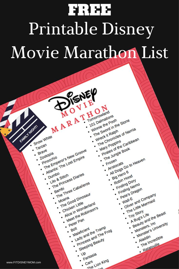FREE Disney Movie Bucket List for family movie night. PLUS, tips to create the ultimate family movie night in your living room.