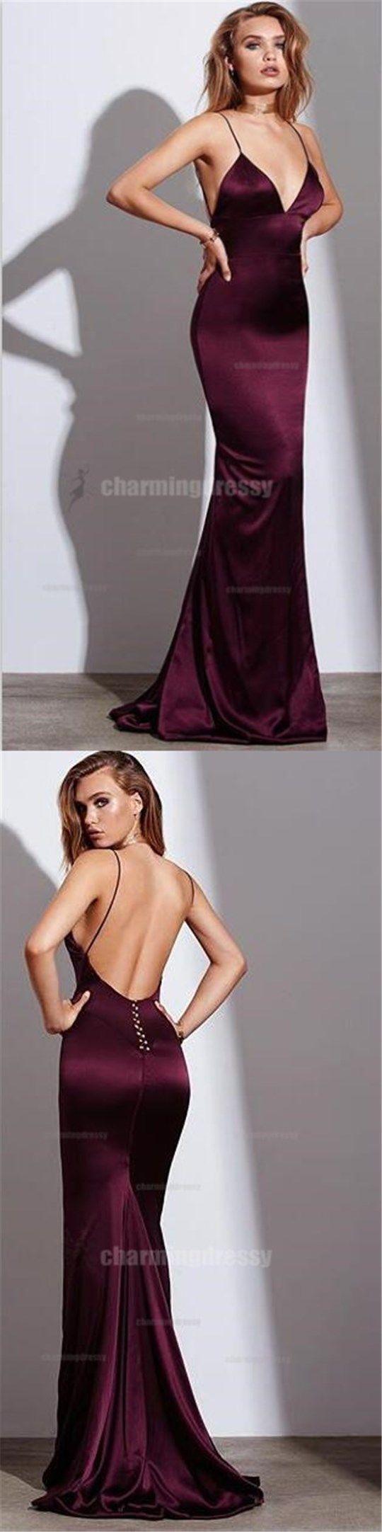 Spaghetti Straps Sexy Elegant Formal Long Cheap Fashion Charming Prom Dresses, PD0448