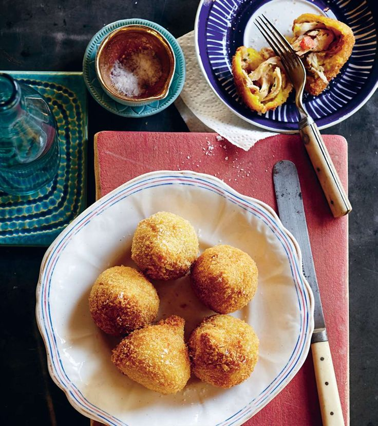 Deep-fried chicken dumplings by Fernanda de Paula & Shelley Hepworth from This is Brazil | Cooked