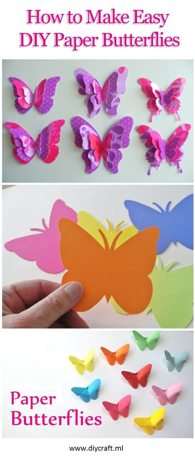 How to Make Easy DIY Paper Butterflies