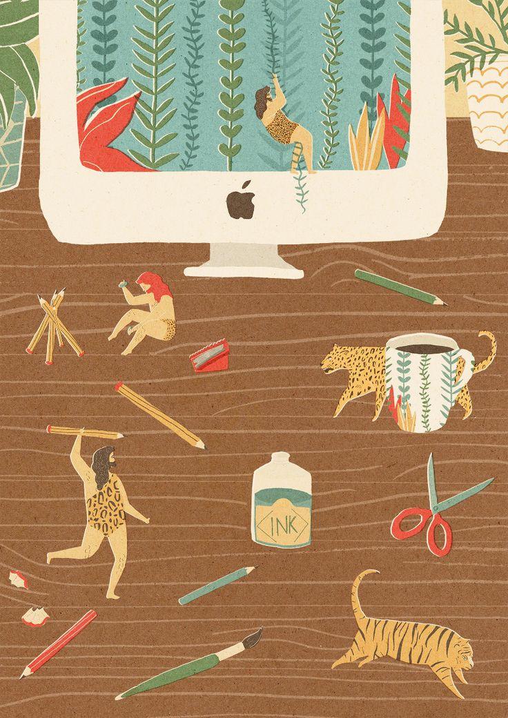 Pikaland 2013 Calendar *NEW* - Naomi Wilkinson Illustration