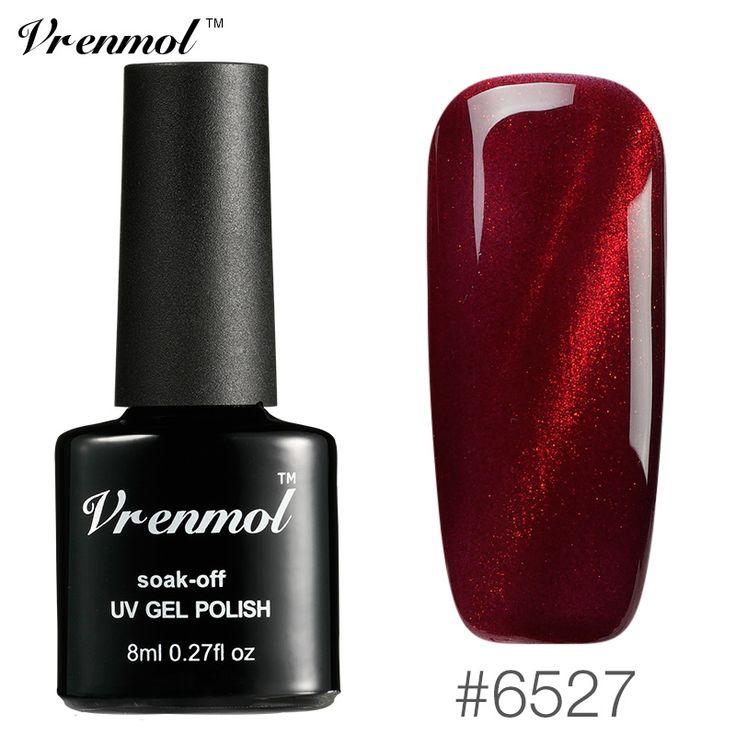 Vrenmol Flame Red Chameleon Cat Eye Nail Gel Polish Nail Art Soak Off Semi Permanent Magnet Gel Lak Need UV LED Lamp Varnishes #Affiliate