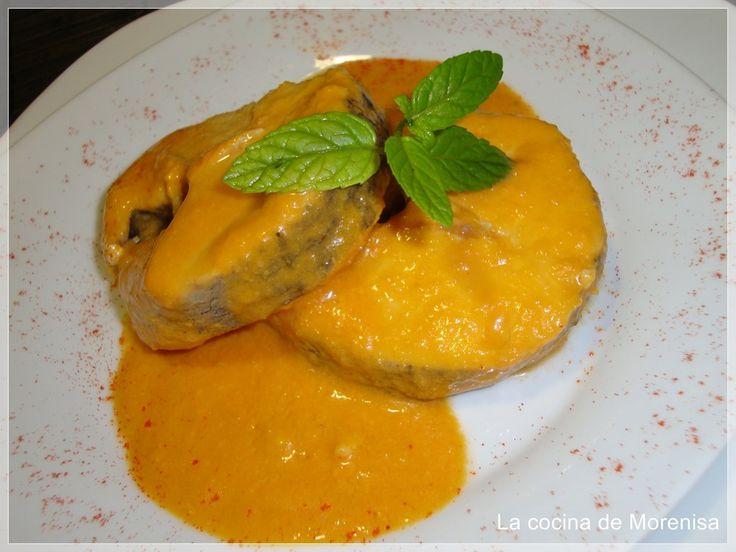 Así de fácil, muy sano y apetecible ... Ingredientes: (4 personas) 750 gr de pescado congelado en filetes (pescada, rosada, lenguad...