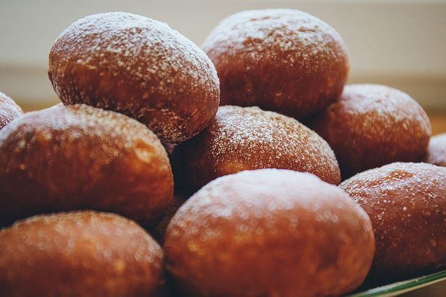 Paczki, or, Polish doughnuts, are eaten on Fat Thursday in Poland and Fat Tuesday in the United States. It's the last splurge before Lent begins.