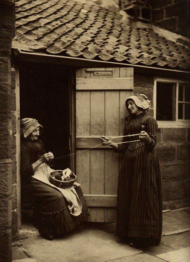 Winding Wool - North Yorkshire - England - Late 1800s