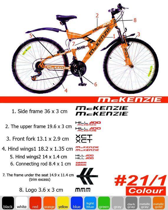 cycling, mtb, bmx, bike, frame MARIN Die-cut Decal Sticker sheet V2