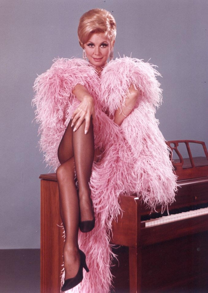 Mitzi Gaynor - WOW! See clips of her  TV show on YouTube. Bob Mackie costumes.