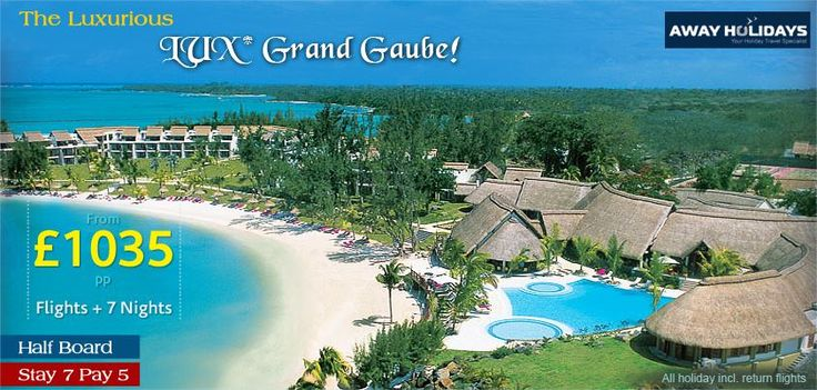 LUX Grand Gaube, Mauritius, vacations now available for an exclusive discounts. Call for details & bookings now! http://www.awayholidays.co.uk/indianocean/mauritius/legends.aspx