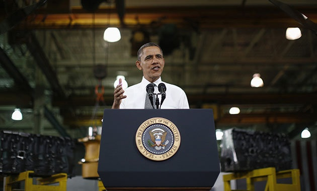 """If you work full time, you shouldn't be in poverty."" -Obama in N. Carolina on Wednesday talking about minimum wage."
