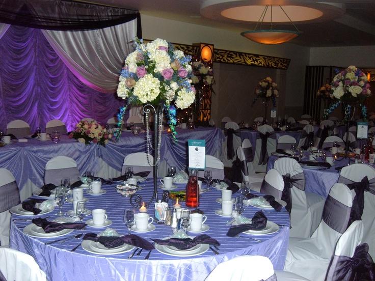 Purple Hues Wedding At Arnaldos Riverview Reception Tables Yourethebride