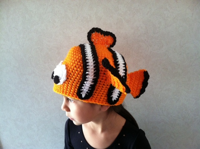 Nemo Crochet hat Fun Crochet Pinterest