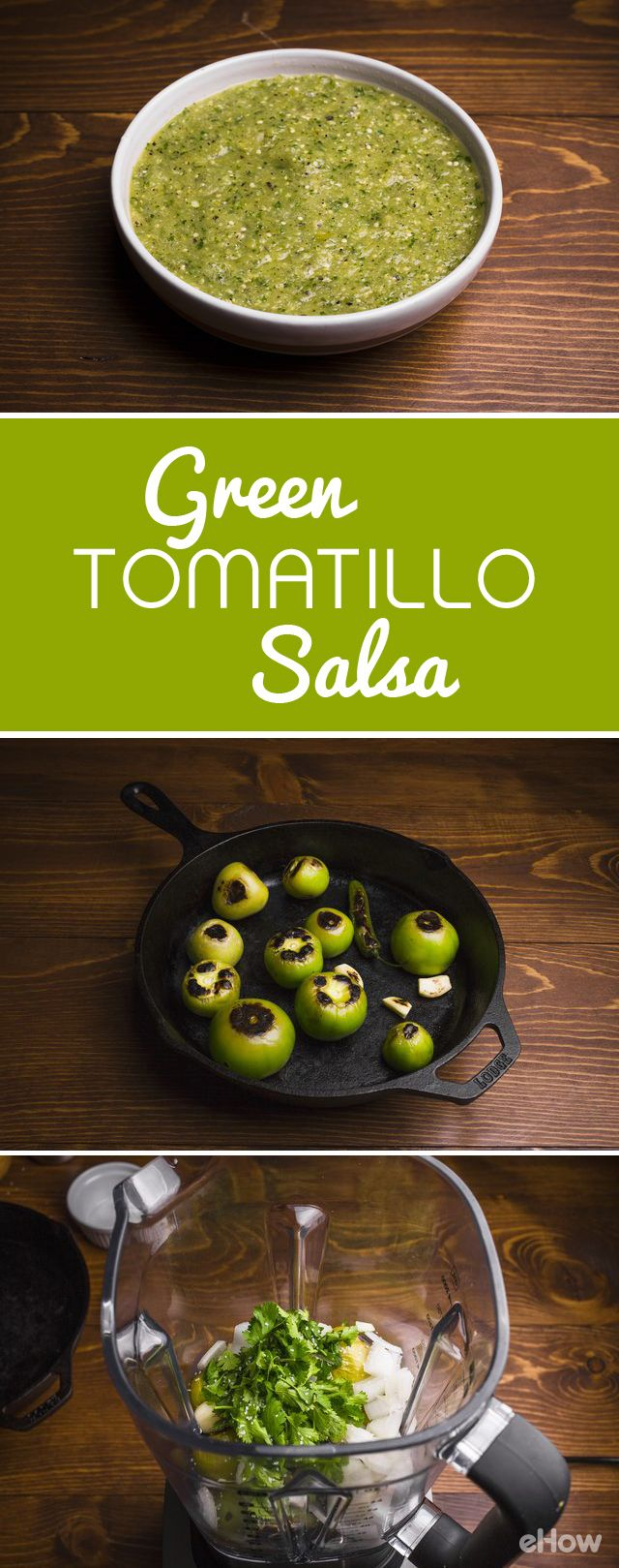 Nothing beats fresh, homemade green tomatillo salsa! The great thing about this recipes is that you can make it as mild or as spicy as you like; simply taste as you go. Serve with chips or over eggs! http://www.ehow.com/how_2254469_green-tomatillo-salsa.html?utm_source=pinterest.com&utm_medium=referral&utm_content=freestyle&utm_campaign=fanpage